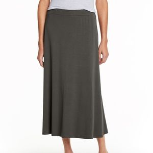 Eileen Fisher Petite Midi Brown Skirt